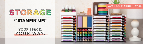 New Storage From Stampin' Up!  Available on Monday, April 1st!!   Buy Today!